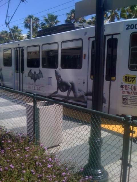 Batman Arkham City Advertisement on the Trolley Car
