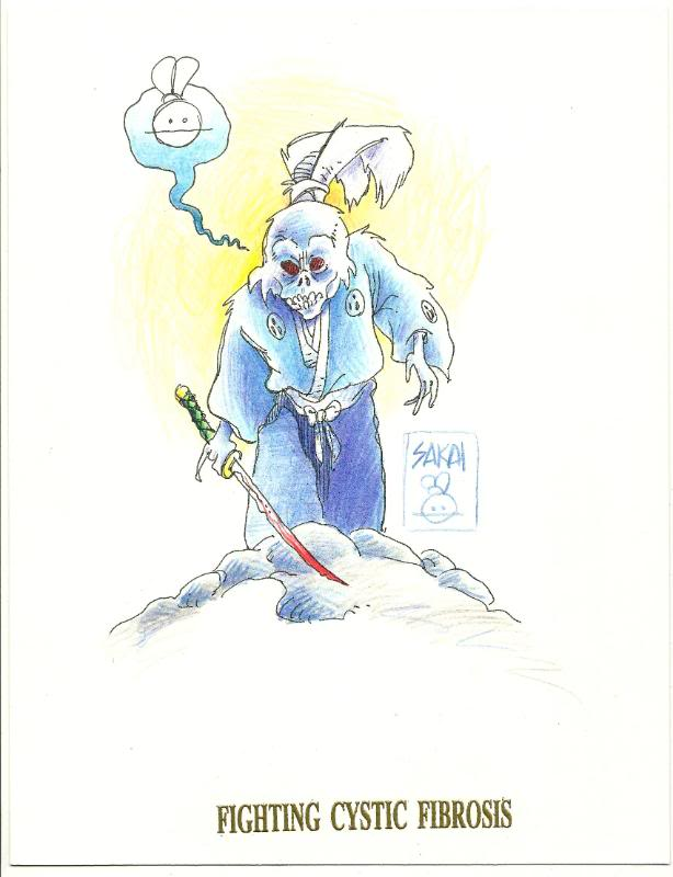 Zombie Usagi Yojimbo Sketch by Stan Sakai