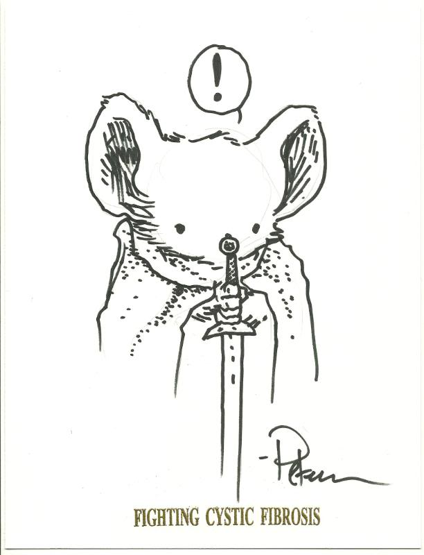 Mouse Guard sketch by David Petersen
