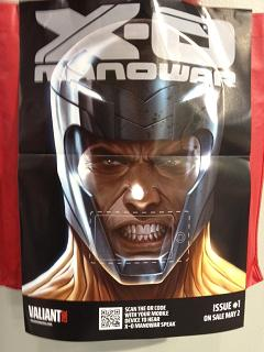 The X-O Manowar Talking QR Code Poster