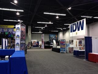 The Wondercon Convention Floor, before the doors opened