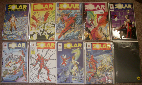 Solar Man of the Atom issues 1 through 10