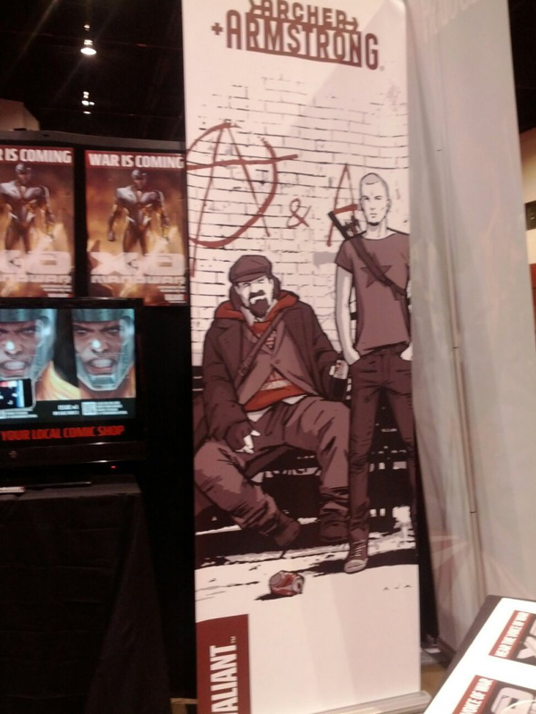 Archer and Armstrong Banner at C2E2