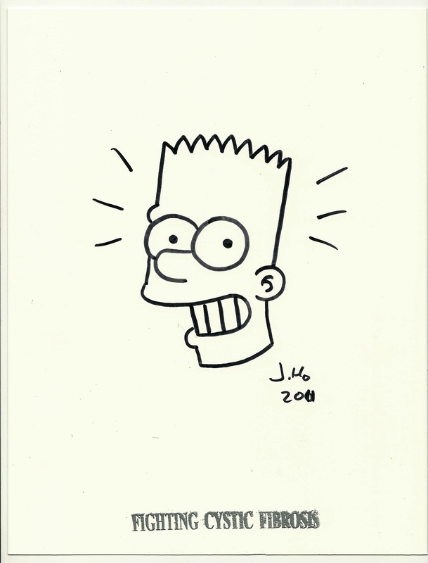 Bart Simpson by Jason Ho Fighting Cystic Fibrosis Sketch
