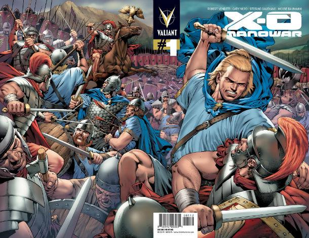 X-O Manowar #1 Second Printing Wraparound Variant