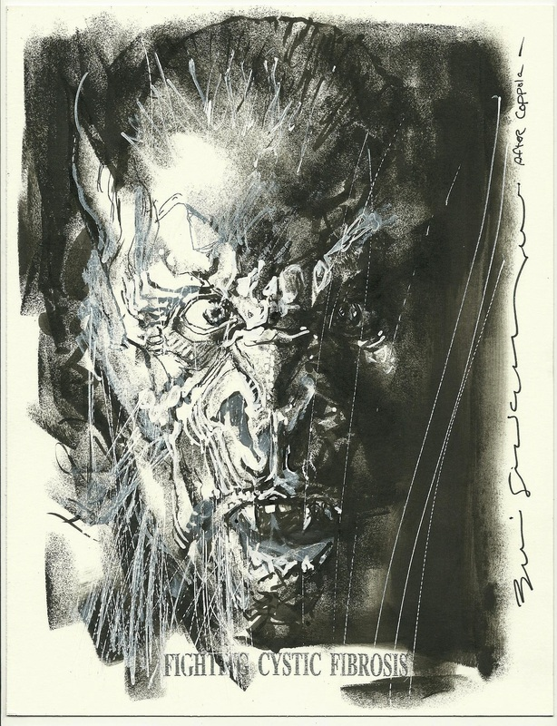 Dracula sketch by Bill Sienkiewicz - Fighting Cystic Fibrosis