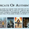 Certificate of Authenticity for Signed Harbinger Books