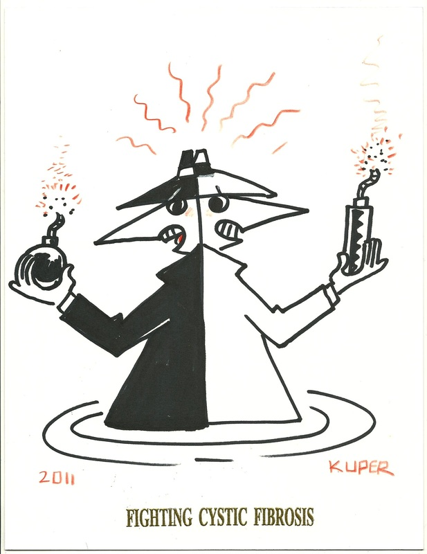 Spy vs Spy by Peter Kuper Fighting Cystic Fibrosis
