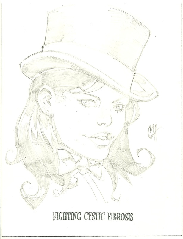 zatanna sketch by chad hardin - fighting cystic fibrosis