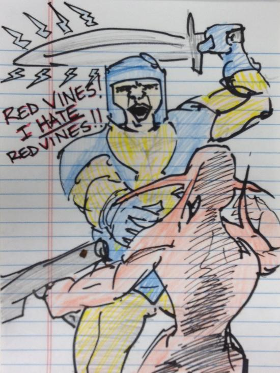 X-O Manowar Red Vine Fan Art