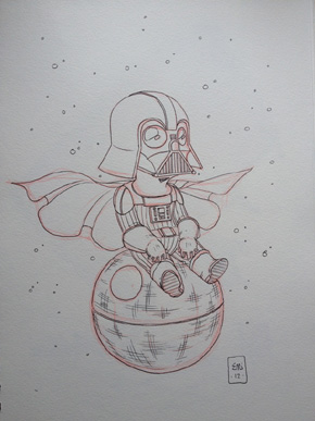 Vader on Death Star by Eric Jones