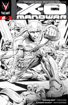 X-O Manowar 02 second print cover
