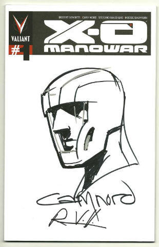 X-O Manowar with Cary Nord sketch