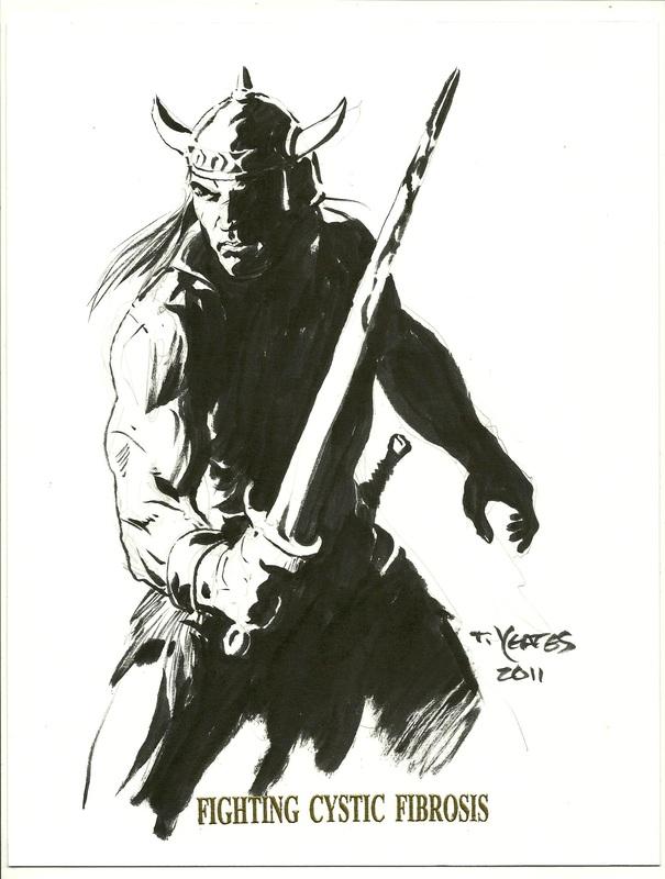 Thomas Yeates Conan Drawing