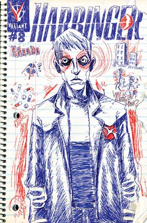 Harbinger 8 Lemire Variant Cover