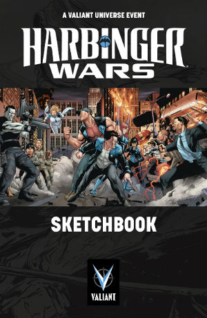 Harbinger Wars sketchbook cover