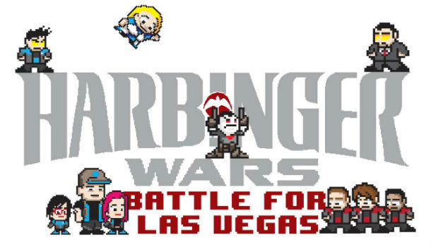 harbinger wars video game logo