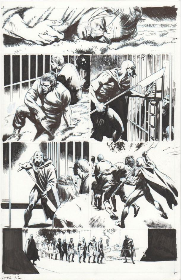 X-O Manowar #2, Page 2 inks