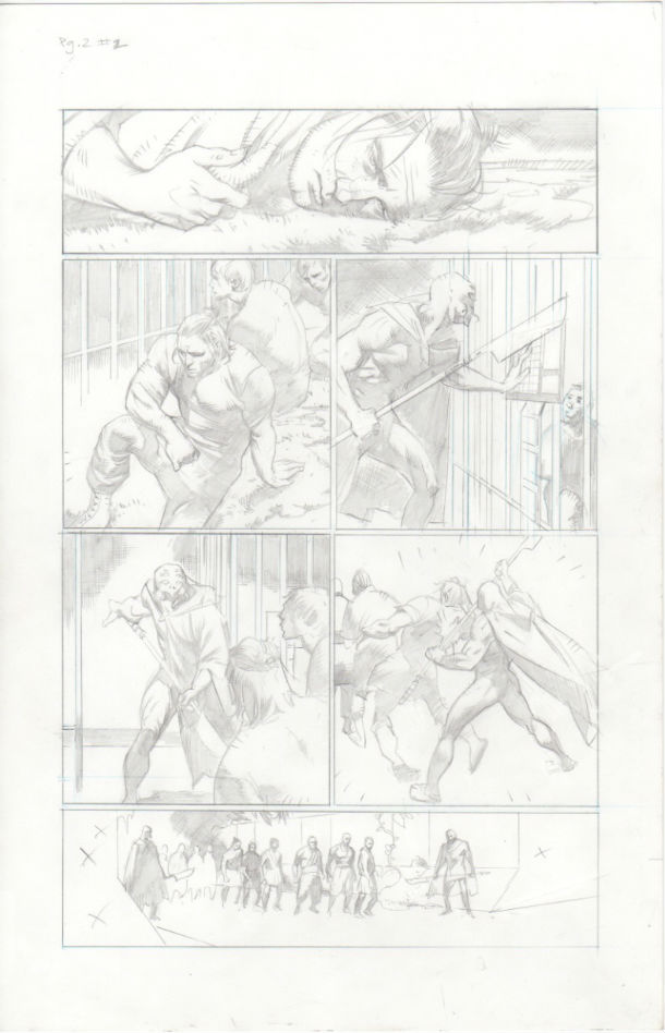 X-O Manowar #2, Page 2 pencils