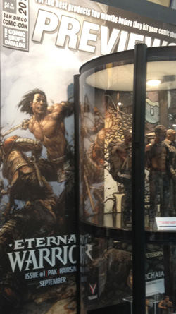 Eternal Warrior at the Previews Booth