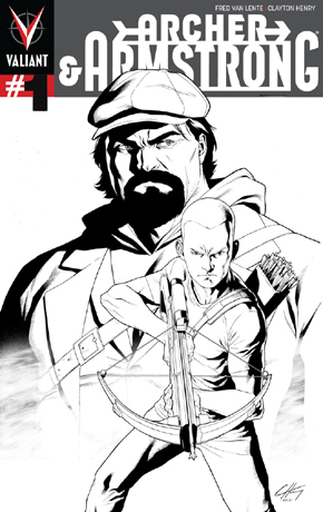 Archer & Armstrong #1 Third Printing Cover