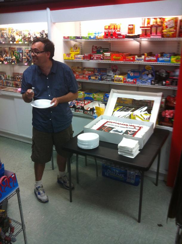 Fred Van Lente Cutting Cake