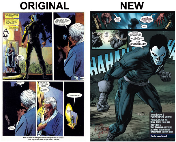Shadowman Last Page Comparison