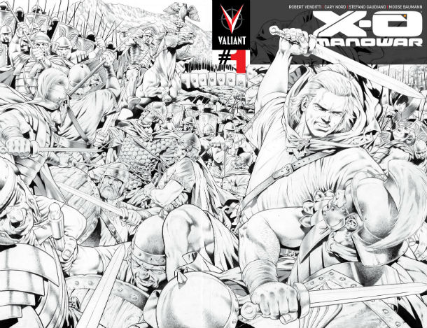 X-O Manowar #1 fourth printing wraparound cover