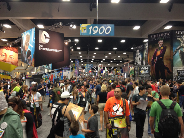 view from the floor at SDCC